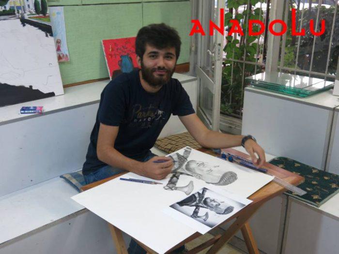 Karakalem Çalışan Hobi Grubu Çizimleri İzmir